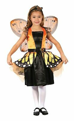 Girls Butterfly Costume Kids School Book Week Fancy Dress Outfit Animal Insect