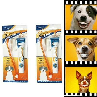 Pet Puppy Dog Cat Finger Tooth Back up Brush Oral Care Toothbrush Toothpas New