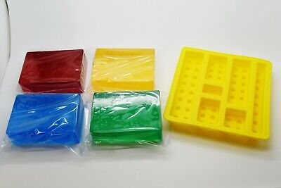 Melt and Pour Soap Base  Making Kit Bricks Kids Activity Bricks Mould Mold 400g