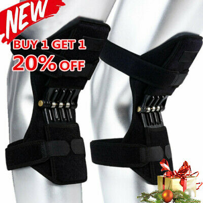 New Power Knee Stabilizer Pad Lift Joint Support Powerful Rebound Spring Force