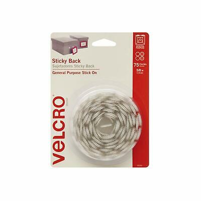 VELCRO Brand - Sticky Back Hook and Loop Fasteners, Pack of 75 | White