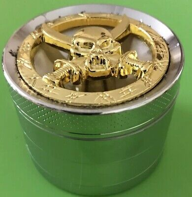 SKULL NEW LIMITED EDITION 55mm  Grinder Amsterdam Style 4 Part Metal,