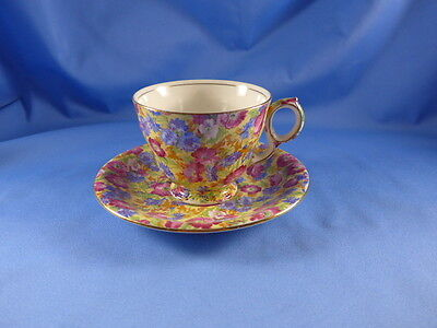 Vintage Royal Winton  England Grimwades Royalty Chintz Cup Saucer