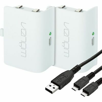 Twin Rechargeable Battery Packs For Xbox One Black