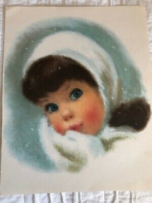 "Seven Vintage 1960's Pastel Prints Children 11"" x 14"" Cute Kitschy Retro"