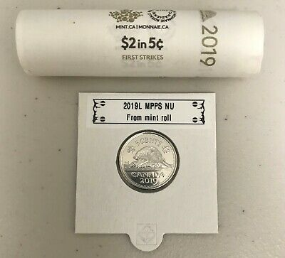 CANADA 2019 New 5x 5 cents ORIGINAL BEAVER Circulation coin UNC From mint roll