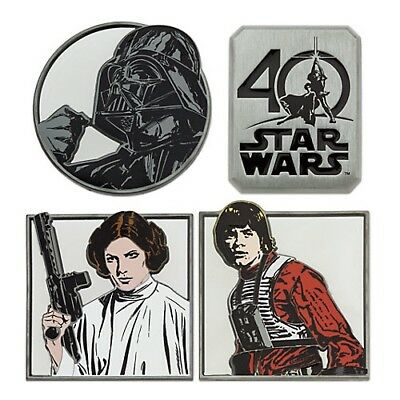 Star Wars 40th Anniversary - Pin Set of 4 Limited Edition 1250 - Pin Trading NEW
