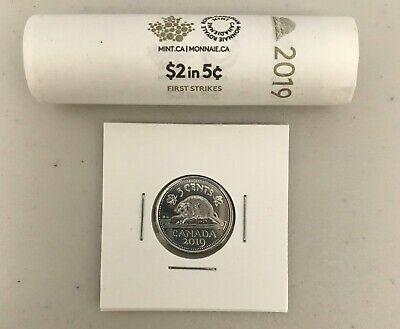 CANADA 2019 New 5 cents ORIGINAL BEAVER Circulation coin (UNC From mint roll)