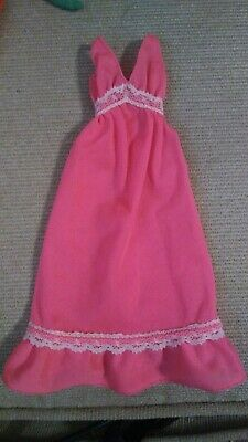 Vintage Barbie Doll Clothes Best Buy Superstar Era PINK NIGHTGOWN Dress #9157