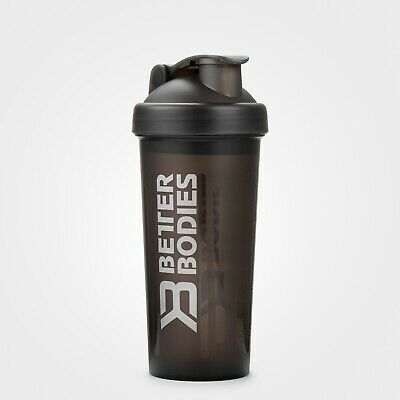 Better Bodies Protein Shaker Water Bottle Fitness Bodybuilding Black