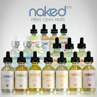 Naked 100 E Liquid 60Ml Shortfill Vape Juice 70/30 VG/PG 0mg 3mg 6mg Eliquid