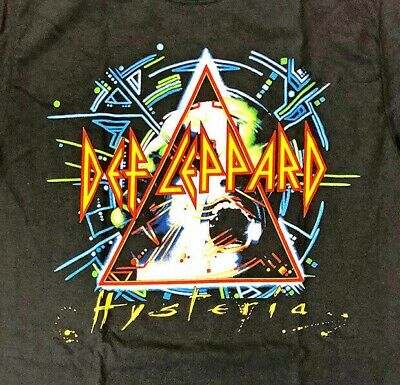 Def Leppard 2018 Hysteria Tour Front & Back XXLarge 2XL Black Shirt Licensed NEW
