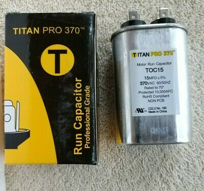Mars Replacement Titan Hd Run Capacitor 45+5 Mfd 440//370V Oval 12890 By Titan