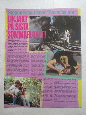 Stand By Me River Phoenix 1 page clipping Sweden 1980s