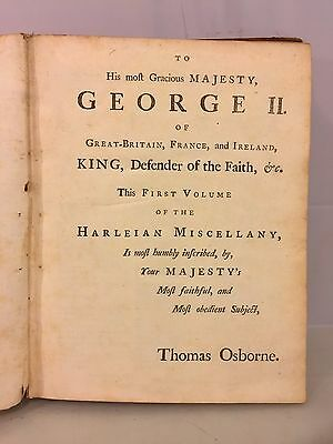Antique Books The Harleian Miscellany  5 Volumes  1744  Publ by Thomas Osborne