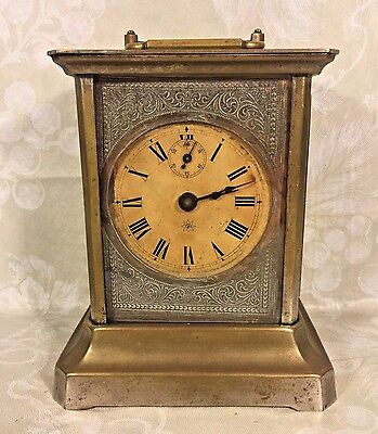 Antique Junghans Joker Carriage Clock w/ Music Box Alarm Runs Music Box Not Play