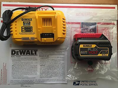 New DEWALT DCB606 FLEXVOLT 20V-60V Li-Ion 6Ah Battery + DCB118 Fast Charger