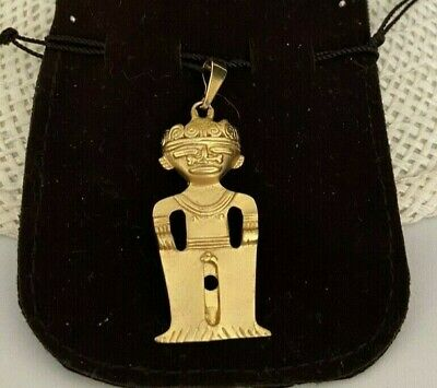 Pre-columbian Reproduction 24 Karat Gold Plated  Indio Rey