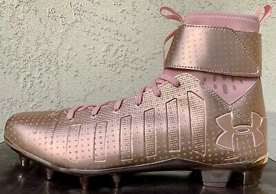 Mens Under Armour UA C1N MC LE Football Cleats Size 10//10.5//11//11.5 ROSE GOLD