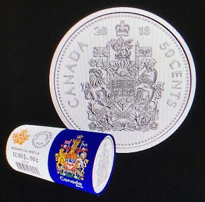 CANADA 2018 New 50 cents Coat of Arms of CANADA (BU directly from mint roll)
