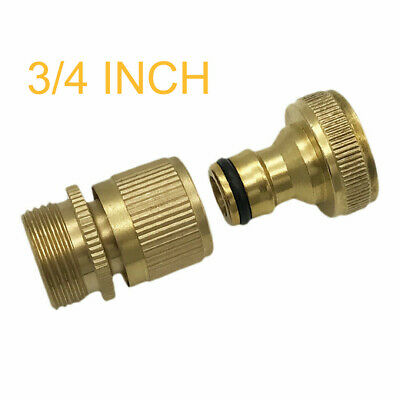 Durable Garden Water Hose Quick Connector 3/4Inch GHT Brass Easy Connect Fitting