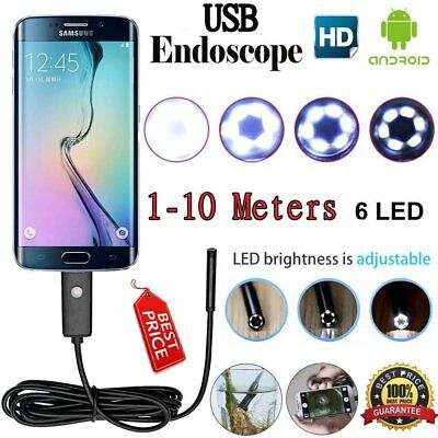5.5/7mm Endoscope Waterproof Inspection Camera Snake Tube USB Android IOS 9Z