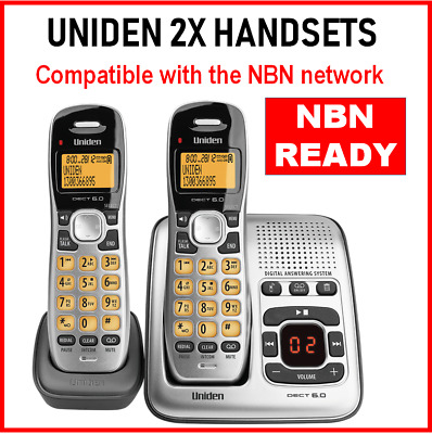 NBN Compatible 2x Cordless Telephone Home Phone WiFi Friendly Answering Machine