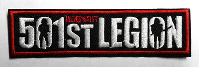 "Star Wars 501st Legion Logo 4.5"" Embroidered Patch- USA Mailed (SWPA-KL-30)"