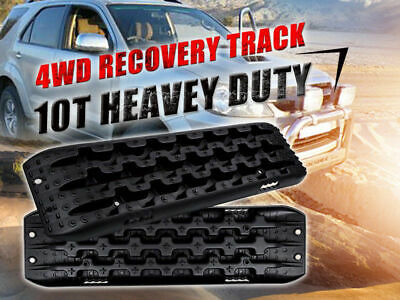 Black 10T Heavy Duty Recovery Tracks Sand Track Vehicle Sand/Snow/Mud Trax 4WD