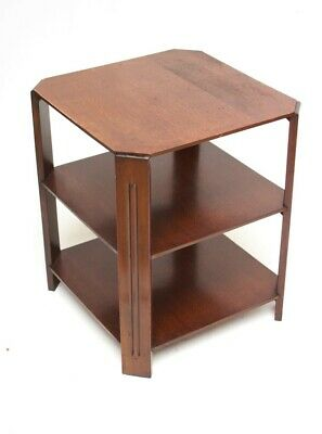 Art Deco Oak 3 Tier Octagonal Side Coffee Table [5426]