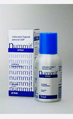 Nummit Surface Anesthetic Lidocaine Topical Aerosol USP15% Spray 100gm