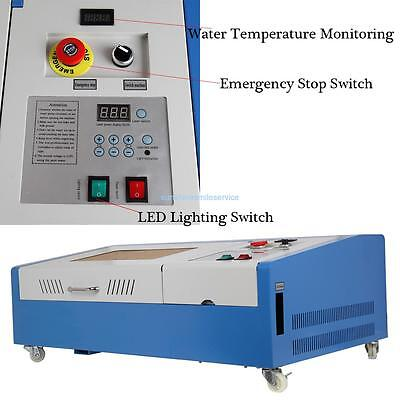 30x20cm 40W CO2 Laser Engraver Cutter Engraving Cutting Machine LCD Display