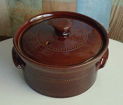Vintage Pearsons of Chesterfield Pottery England 1 Litre Casserole Dish & Lid