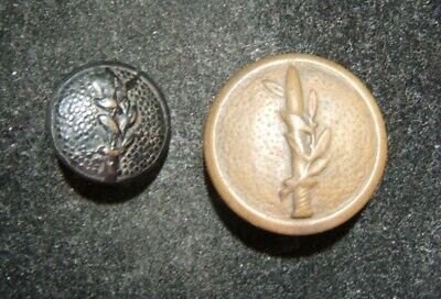 Two 2x old embossed uniform buttons of Israeli Army/IDF, c. 1948-early 1950's