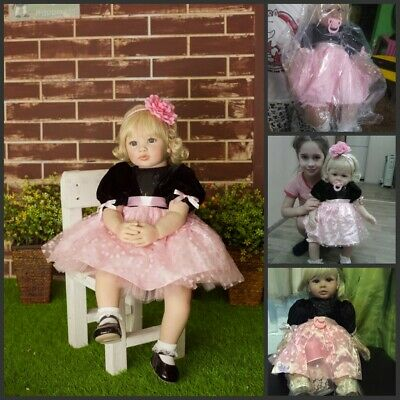 """24"""" Reborn Baby Dolls Girls Soft Silicone Real Life Handmade Toddler Best Gifts"""
