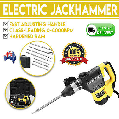 1800W Jack Hammer Electric Jackhammer Demolition Rotary Concrete Solid Brick