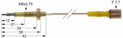 Thermocouple With Cable Link L 750Mm Connection F 7.7Mm M6X0.75