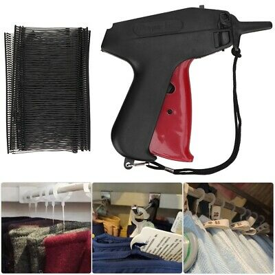Tagging Gun + 5 Steel Needles +5000 Tag System Barbs Tags For Clothes Set NEW