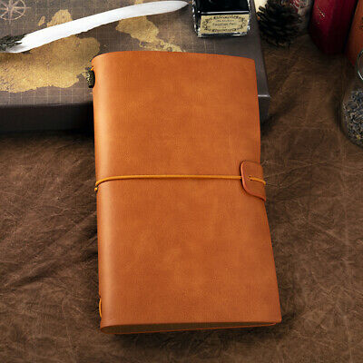 Retro Vintage PU Leather Cover Notebook Travel Journal Diary Jotter Card Holder
