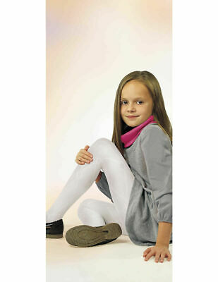 Sylvia Patterned Girls Kids Tights White 7 - 11 Years Knittex