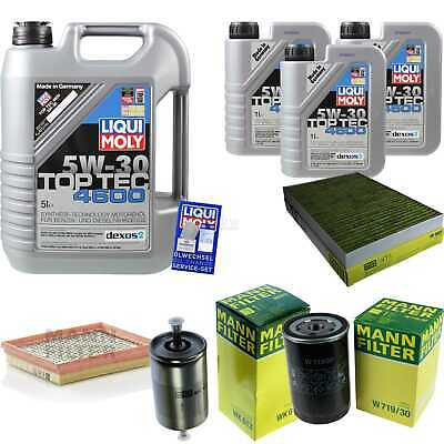 Inspection Kit Filter Liqui Moly Oil 8L 5W-30 for Audi A6 4B C5 RS6