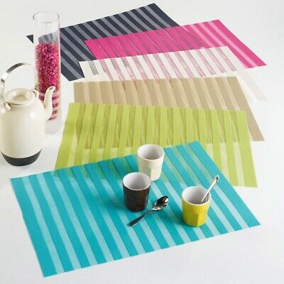 Garden / Dining Table Hemstitched PVC Wipe Clean Table Mat Placemat