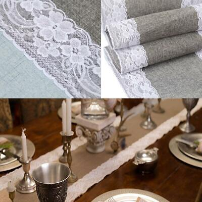 Lace Patchwork Table Runners Table Burlap Christmas Wedding Party Table MSF