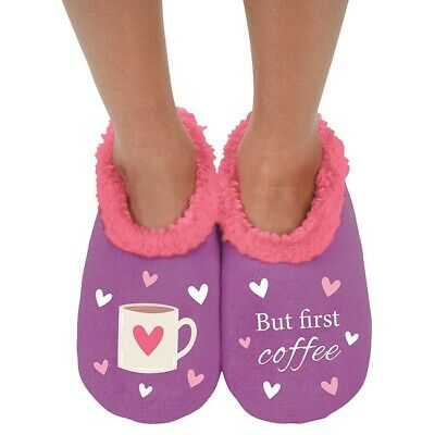 Ladies Slipper Snoozies! But First Coffee Design Ideal  Gift