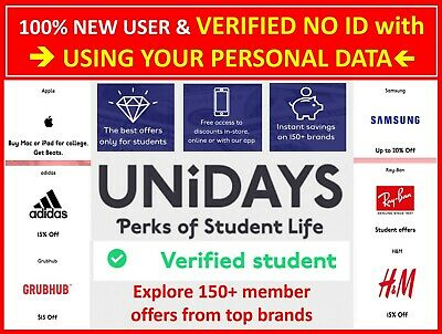 ✔️GET UNiDAYS© US Verified✔️100% WITH YOUR PERSONAL TADA✔️1 YEAR✔️NO ID STUDENT