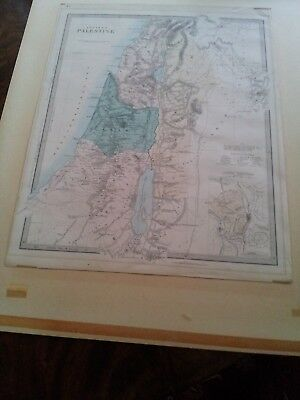 """Map of """"ANCIENT PALESTINE"""" - Edward Stanford, 6 Charing Cross, London"""