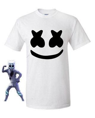 DJ MARSHMELLO MARSHMELLOW Face mask top skin Mens Kids gaming T shirt/Top