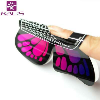 Kads 100 pcs en 1 rouleau de Grand Taille Butterfly-shape Autocollant Gel...