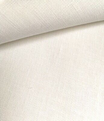 White 36 Count Zweigart Edinburgh linen even weave fabric - various size options