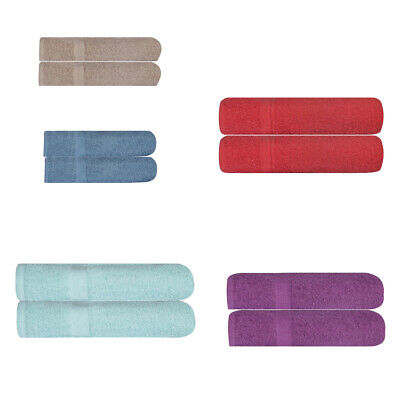2 X Extra Large Jumbo Bath Sheets Bath Towels 100% Cotton Towel 95cm x 155cm
